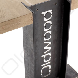 Industrial table `Helsinki` with logo