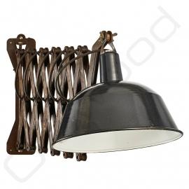 Vintage enamel scissor lamp