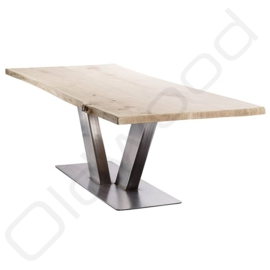 Robust wooden table ''Rome'' light