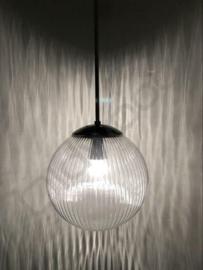 Vintage glass pendant lamp