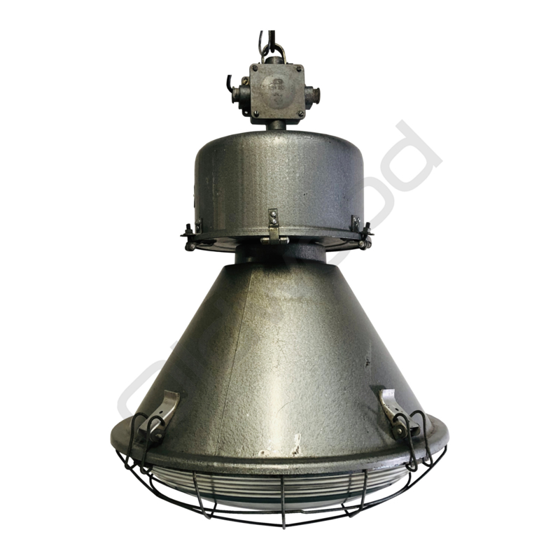 "Tough looking industrial factory lamp bulb glass. Model: ""Tanek"""