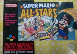 Super Mario All Stars in doos (Super Nintendo tweedehands game)