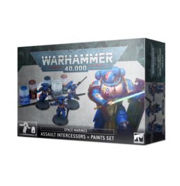 Space Marines Assault Intercessors plus Paints Set (warhammer 40000 nieuw)
