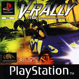 V-Rally  zonder cover (PS1 tweedehands game)