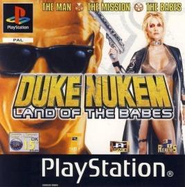 Duke Nukem Land of the Babes zonder boekje (PS1 tweedehands game)