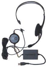 PS2 USB Headset bedraad met USB (tweedehands accessorire)