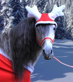 HKM Rendier gewei -Christmas- rood/wit 1 maat