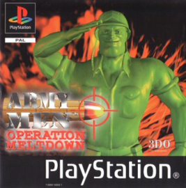Army Men Operation Meltdown (PS1 tweedehands game)