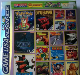 Game USA 22 in 1  (Gameboy Advance Color tweedehands game)