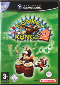 Donkey Konga 2 (software only) (Nintendo Gamecube tweedehands)