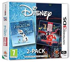 Disney 2 pack Frozen Olafs Quest en Big Hero 6 Battle in the Bay (Nintendo 3DS nieuw)