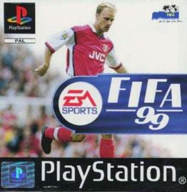 Fifa 99 bedchadigd doosje(PS1 tweedehands game)