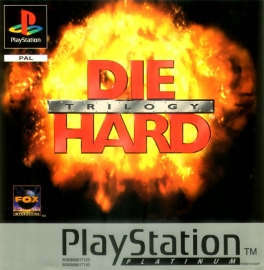 Die Hard Trilogy Platinum zonder boekje (PS1 tweedehands game)