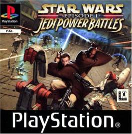 Star Wars Episode 1 Jedi Power Battles zonder boekje en cover (PS1 tweedehands game)