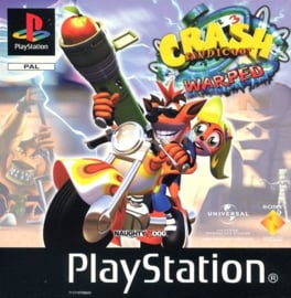 Crash Bandicoot 3 Warped zonder boekje (PS1 tweedehands game)