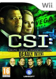 CSI Deadly Intent (Wii tweedehands game)