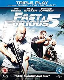 Fast & Furious 5 Blu-ray + DVD (Blu-ray tweedehands film)