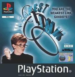 The Weakest Link zonder boekje (PS1 tweedehands game)