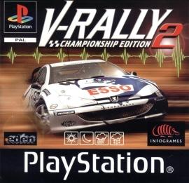 V-Rally 2 zonder boekje  en cover (PS1 tweedehands game)