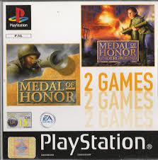 Medal of Honor en Medal of Honor Underground (ps1 tweedehands game)