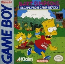 Bart Simpson Escape from camp deadly losse cassette (Gameboy tweedehands game)