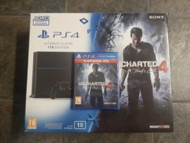 Sony playstation 4 in 1 TB in doos met Uncharted 4 (ps4 tweedehands)