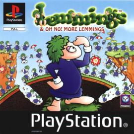 Lemmings & NO! More Lemmings (ps1 tweedehands game)
