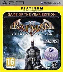 Batman Arkham Asylum Game of the year platinum (ps3 used game)