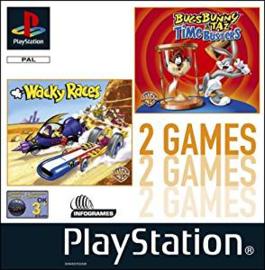 Wacky Races en Bugs Bunny and Taz Time Busters zonder boekje (ps1 tweedehands game)