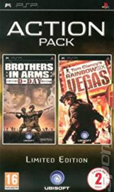 Brothers in Arms D-Day en Tom Clancy's Rainbow Six Vegas action pack (psp tweedehands game)