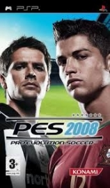 PES 2008 Pro Evolution Soccer beschadigde cover (psp used game)