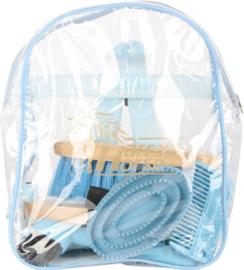 Harrys Horse Backpack Grooming Kit - Blauw