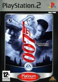 James Bond 007 Everything or Nothing platinum zonder boekje (ps2 used game)