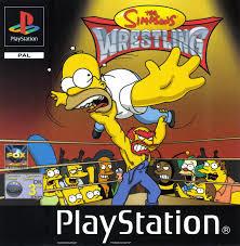 The Simpsons Wrestling zonder cover (PS1 tweedehands game)