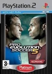 Pro Evolution Soccer 5 platinum (ps2 used game)