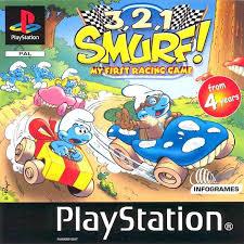 3.2.1... Smurf! zonder boekje (ps1 tweedehands game)