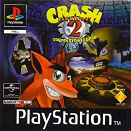 Crash Bandicoot 2 Cortex Strikes Back (PS1 tweedehands game)