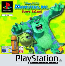 Disney Pixar Monster Inc. Scare Island Platinum (ps1 tweedehands game)