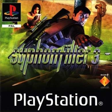 Syphon Filter 3 platinum zonder boekje (PS1 tweedehands game)