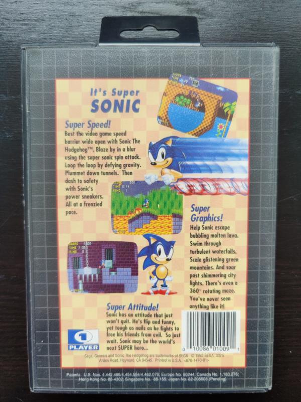 Sonic the Hedgehog (Sega Genesis tweedehands game)