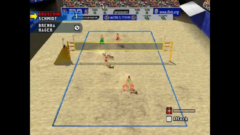 Beach volleyball (PS1 tweedehands game)
