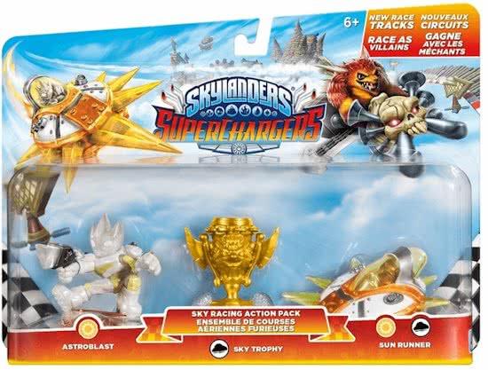 Skylanders Superchargers Sky Racing Action Pack - Legendary Astroblast, Sky Trophy and Legenday Sun Runner (Skylanders Nieuw)