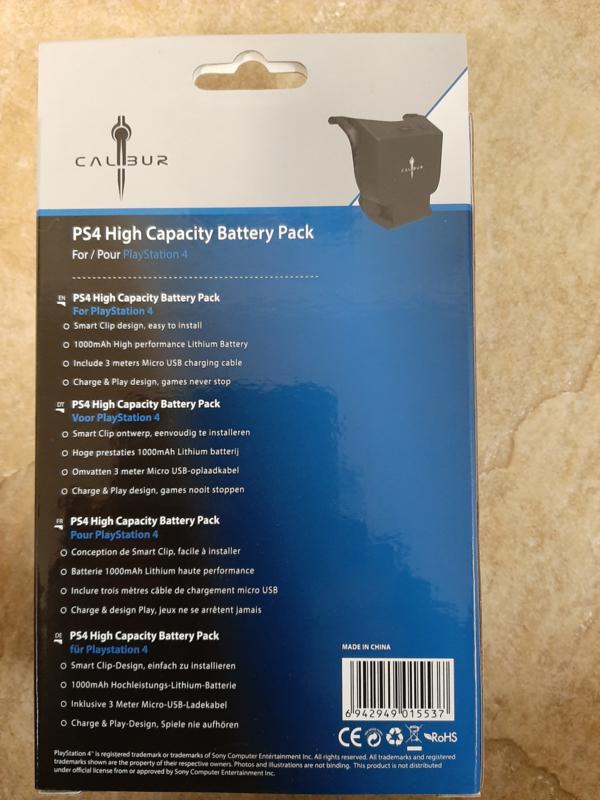 Calibur PS4 High Capacity Battery Pack (ps4  nieuw)