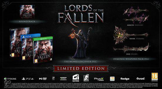 Lords of the Fallen limited edition (ps4 nieuw)