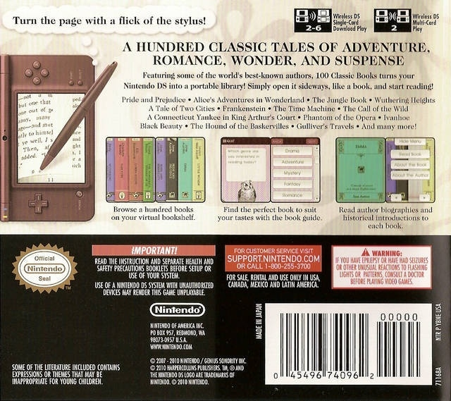 100 Classic Book Collection (Nintendo DS nieuw)