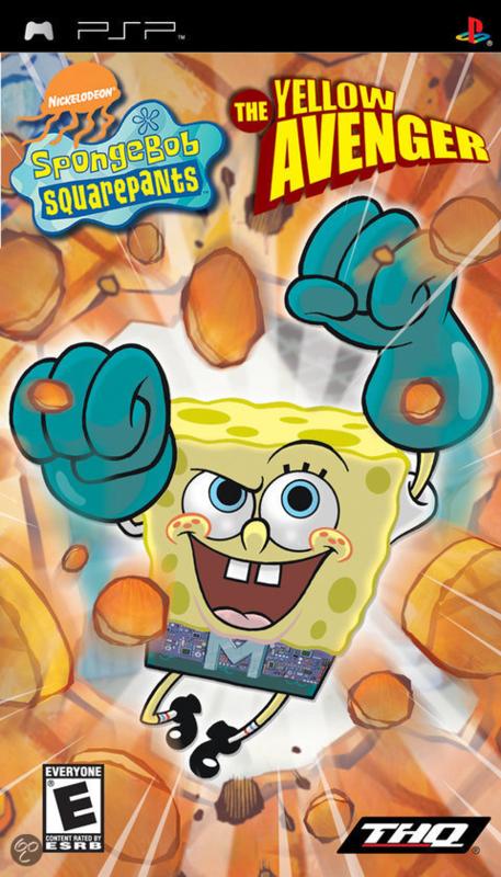 Spongebob Squarepants The Yellow Avenger zonder boekje  (psp tweedehands game)