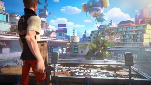 Sunset Overdrive (xbox one tweedehands game)