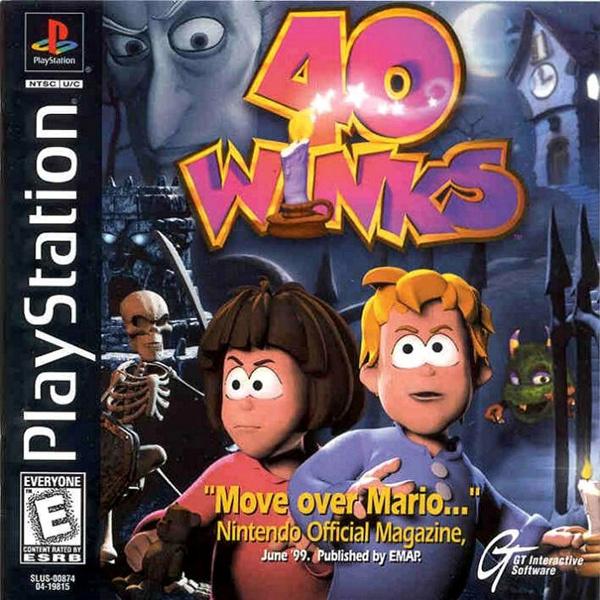 40 Winks (PS1 tweedehands game)