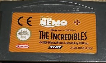 Disney's Finding Nemo + The Incredibles  (Losse Cassette) (Gameboy Advance tweedehands game)