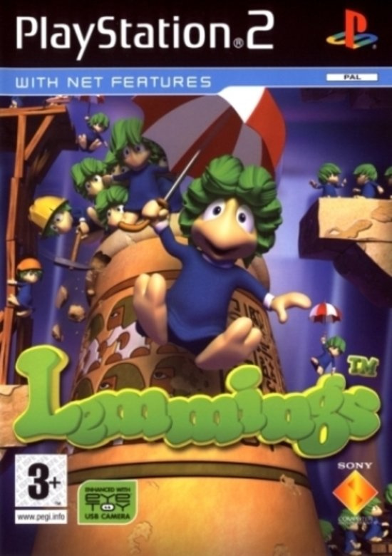 Lemmings (ps2 nieuw) Eye Toy Required